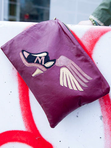 Winged Sneaker Clutch Bag