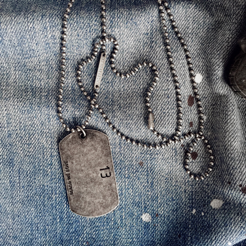 Grunge Military Dog Tag
