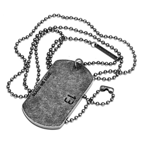 Grunge Steel Dog Tag