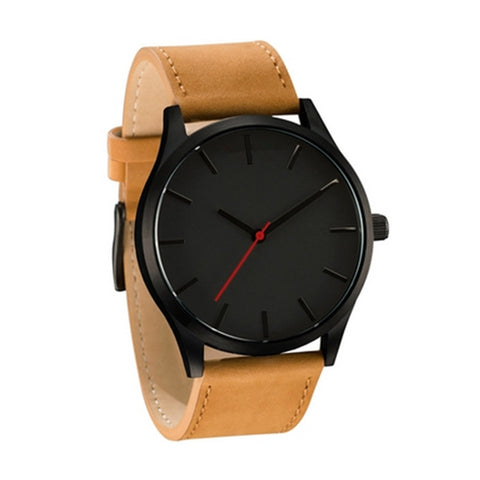 Black Quartz Sports Watch
