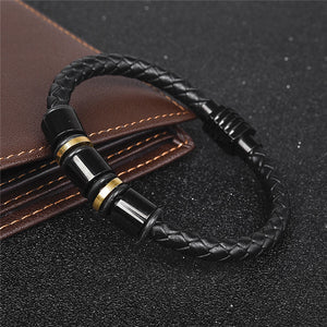 Geometric Leather Braided Bracelet