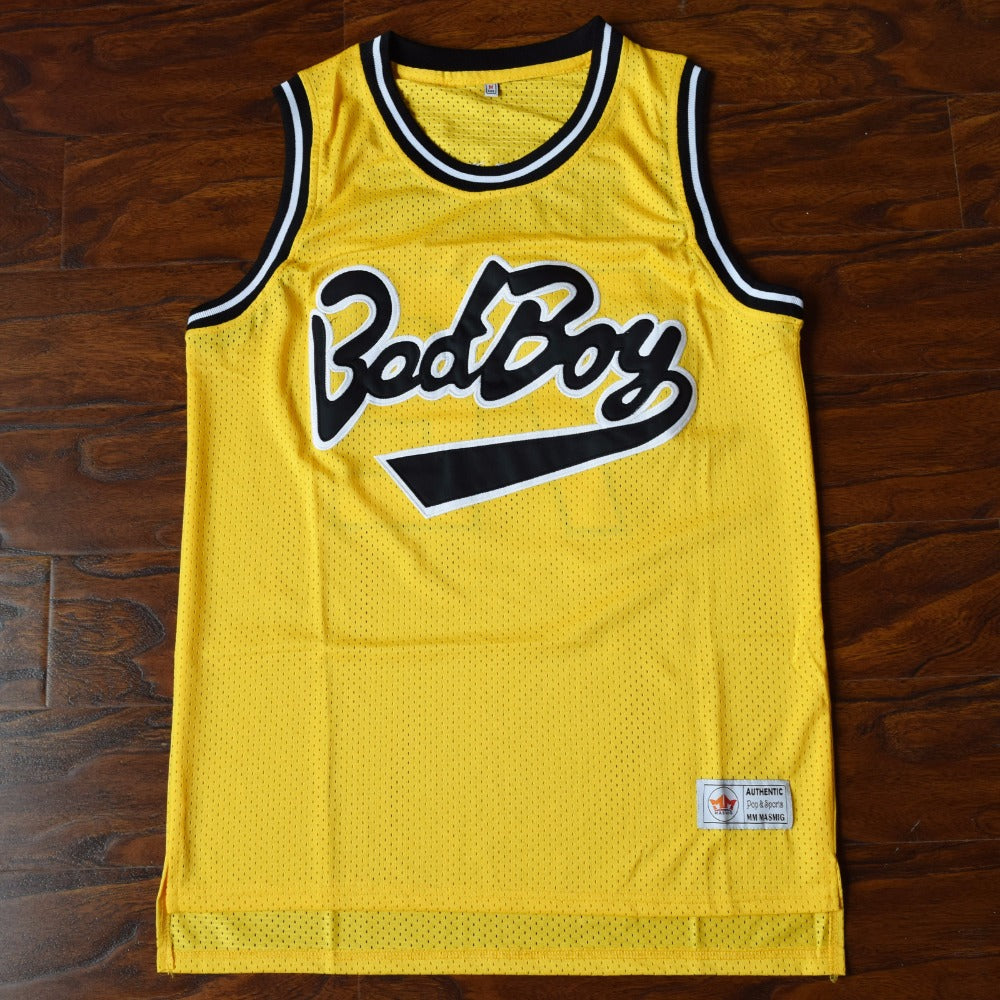 7546862b97d1 Biggie SMALLS  72 BAD BOY Notorious Big Basketball Jersey YELLOW  Basketball-Other Any Size