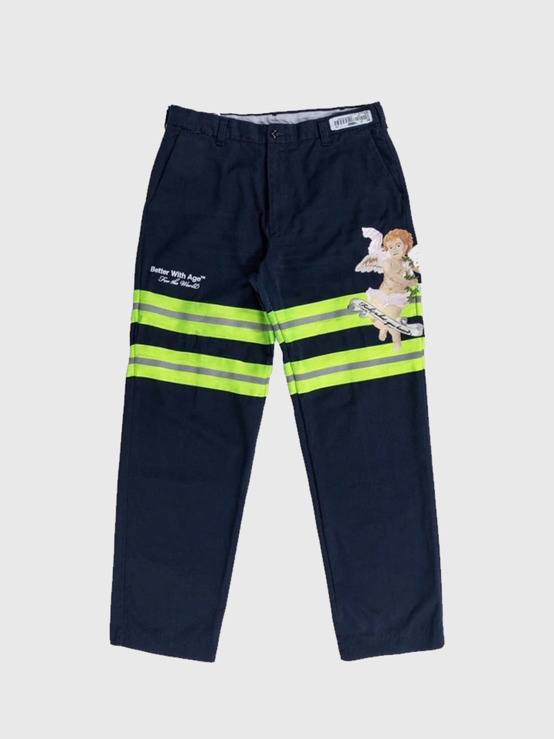 FWYH HI-VIS TROUSERS - NAVY