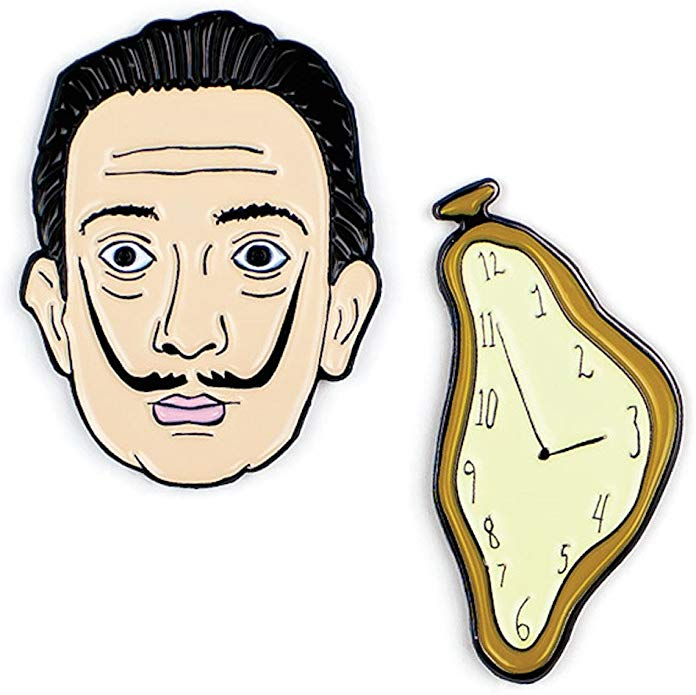 Dalí & Watch Enamel Pin Set - My Modern Met Store
