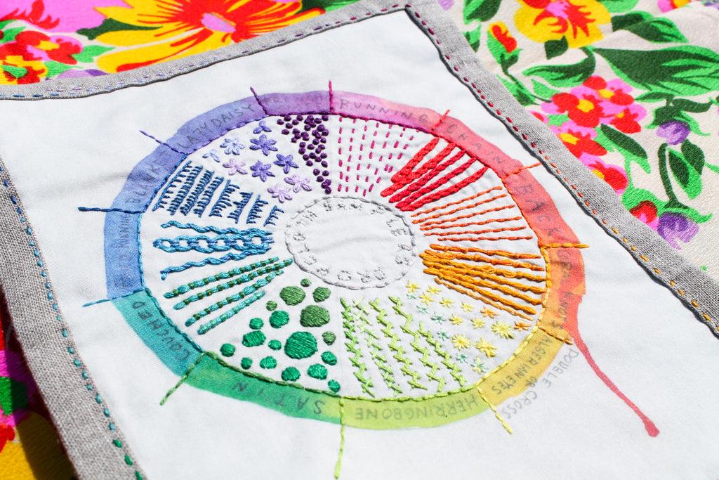 Love Color Theory And Embroidery Try This Embroidery Sampler Pattern
