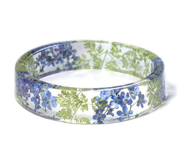 'Forget Me Not' Flower Resin Bracelet - My Modern Met Store