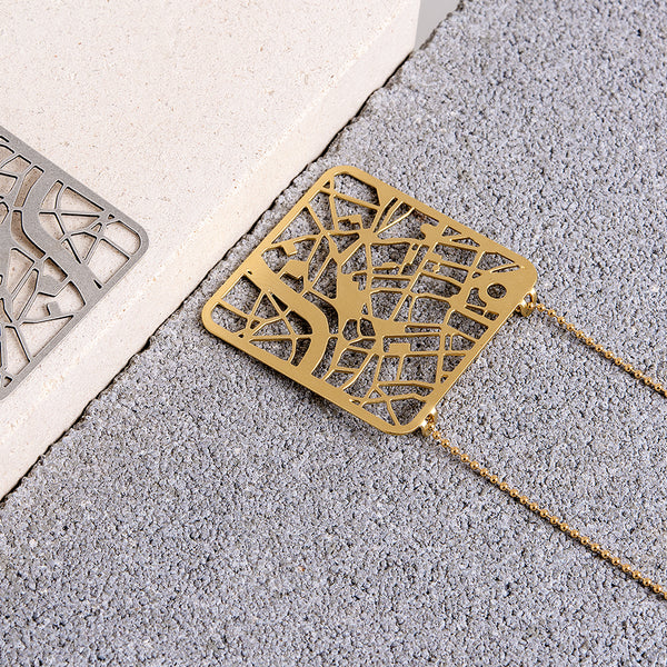 London Map Necklace - My Modern Met Store