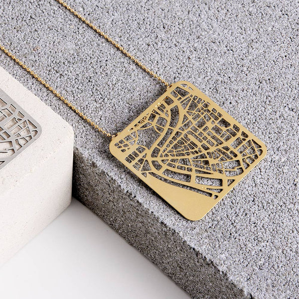Rome Map Necklace - My Modern Met Store