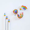 Multicolor Pencils: Pack of 5 Rainbow Pencils - My Modern Met Store