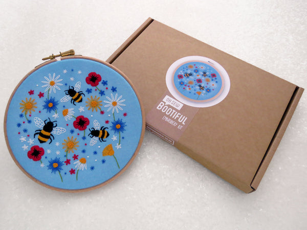 'Bees and Wildflowers' Embroidery Kit - My Modern Met Store