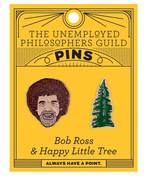 Enjoy a Happy Tree When You Wear This Bob Ross Enamel Pin
