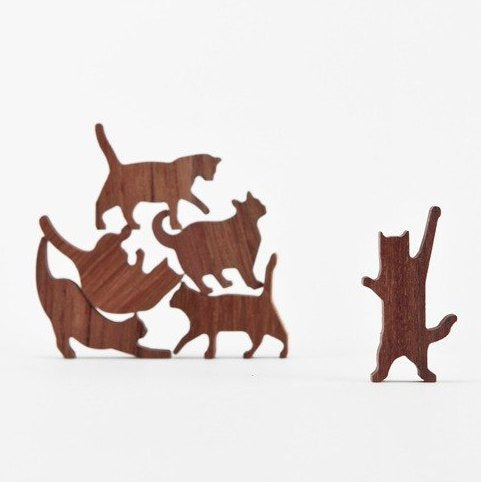Small Wooden Cat Pile Game - My Modern Met Store
