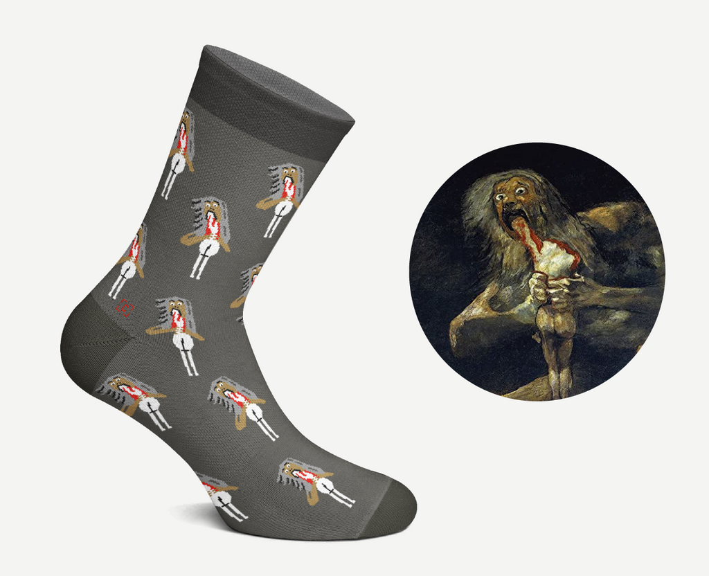 Saturn Devouring His Son Socks