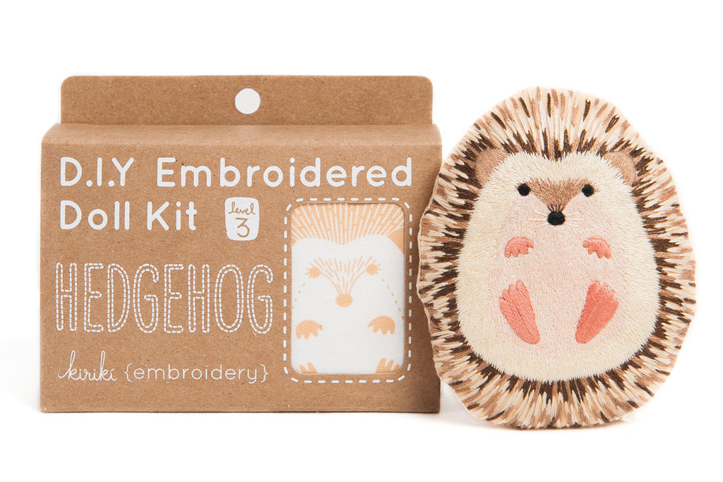Hedgehog Doll Embroidery Kit - My Modern Met Store