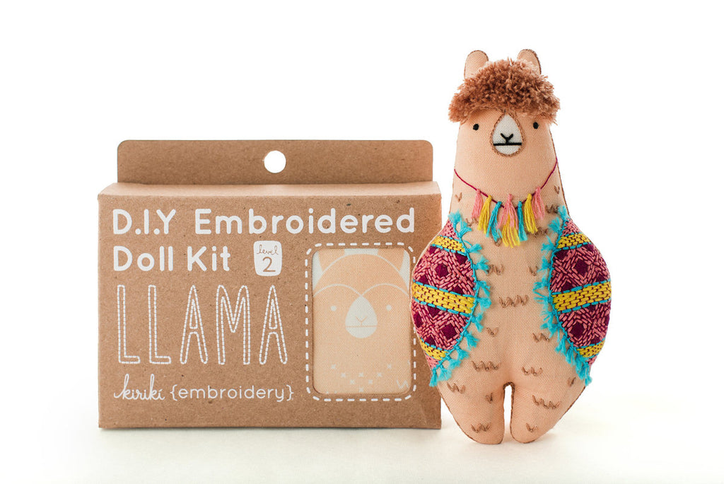 Llama Doll Embroidery Kit - My Modern Met Store