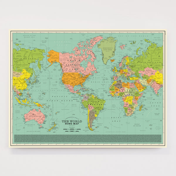 World Song Map Poster