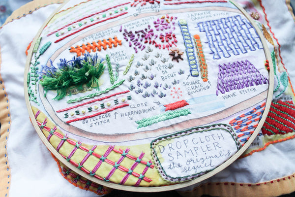 Hand Embroidery Stitch Sampler