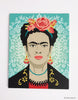 Frida Kahlo Canvas Kit With Blue Background