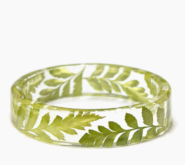 Green Fern Resin Bracelet - My Modern Met Store