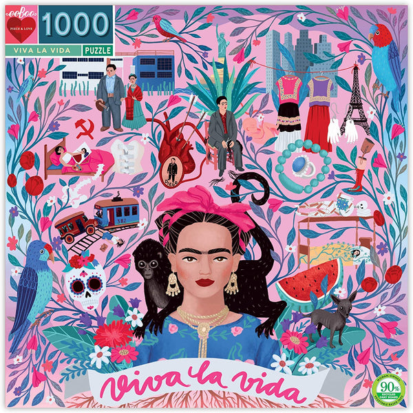 1,000 Piece Frida Kahlo Puzzle by eeBoo