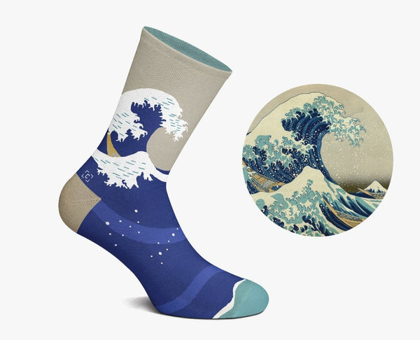 Great Wave Socks by Curator Socks