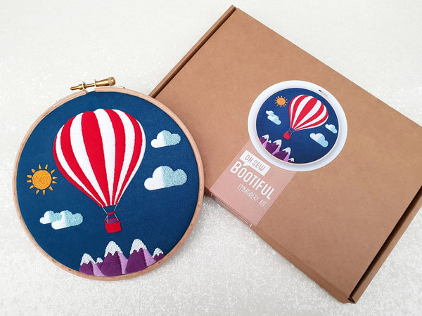 Hot Air Ballon Embroidery Kit - My Modern Met Store