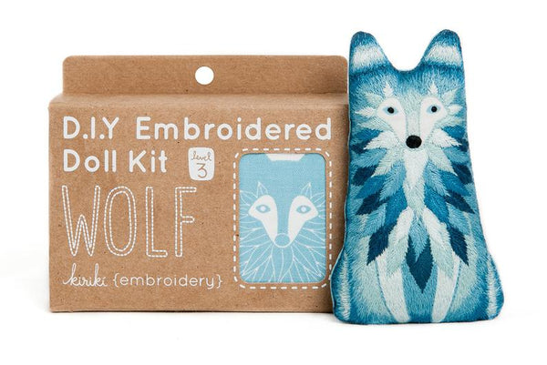Wolf Embroidery Kit - My Modern Met Store