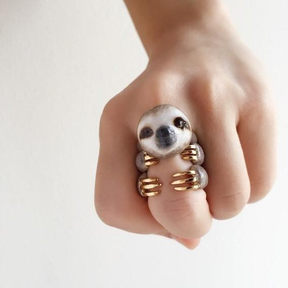 Adjustable Three-Piece Sloth Ring - My Modern Met Store