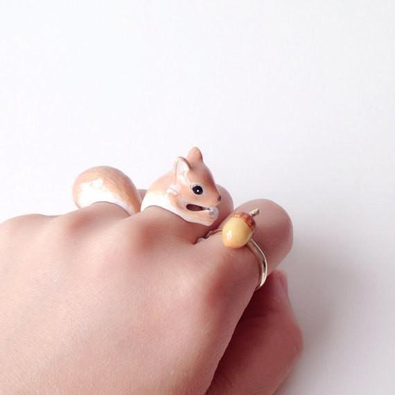 Adjustable Three-Piece Squirrel Ring - My Modern Met Store