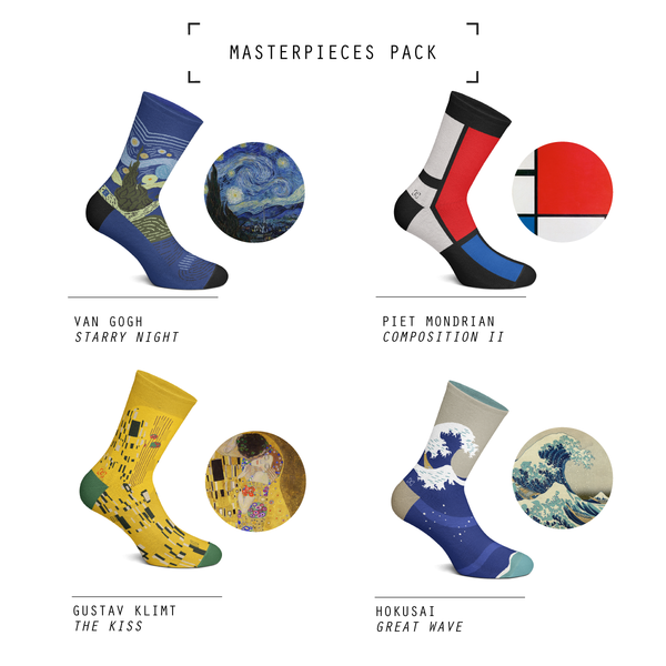 Masterpiece Pack of Socks by Curator Socks