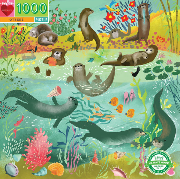 Otter 1,000 Piece Jigsaw Puzzle