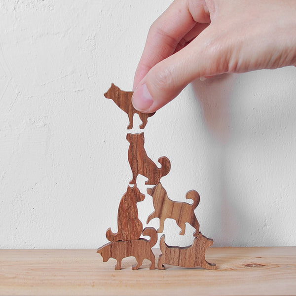 Wooden Toy Dog Stacking Game