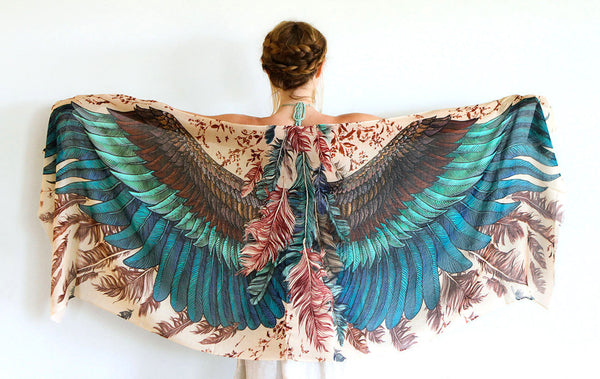 Exotic Wings Bird Scarf - My Modern Met Store
