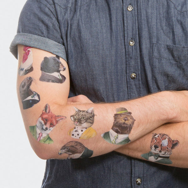 Animal Society Temporary Tattoo Set by Tattly