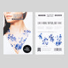 Blue Floral Temporary Tattoos - My Modern Met Store
