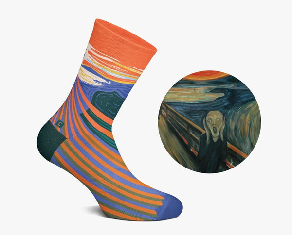 The Scream Socks by Curator Socks