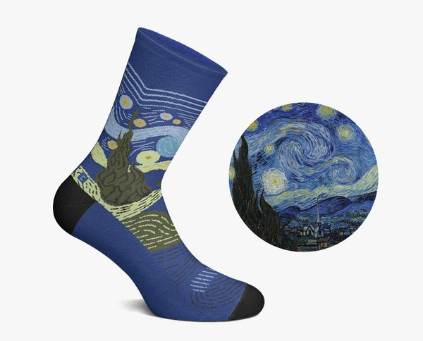 The Starry Night Socks by Curator Socks