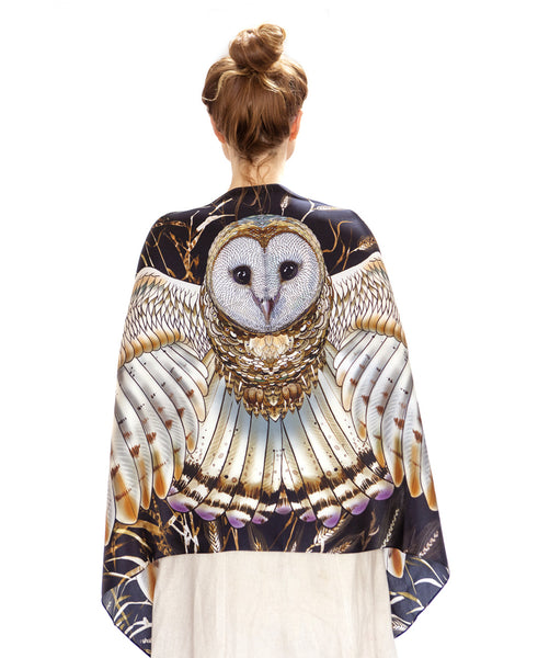 Wheat Barn Owl Bird Scarf - My Modern Met Store