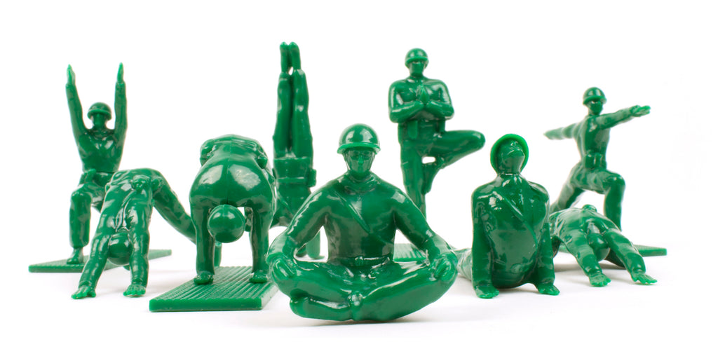 Little Green Army Men Toys, Yoga Joes