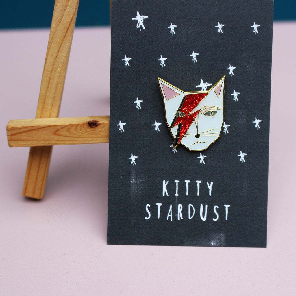'Kitty Stardust' Enamel Pin - My Modern Met Store