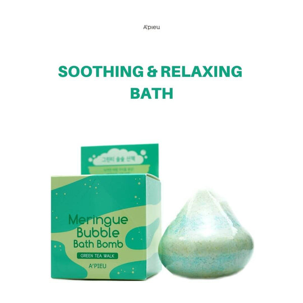 A'PIEU Meringue Bubble Bath Bomb (Green Tea Walk) 100g