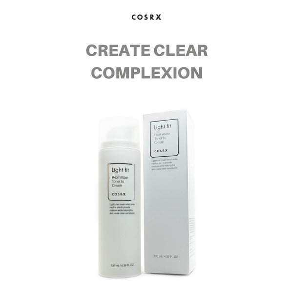COSRX Light Fit Real Water Toner To Cream 130ml