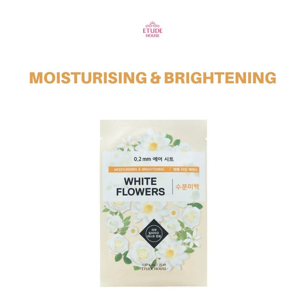 Etude House 0.2mm Therapy Air Mask 1pc White Flowers