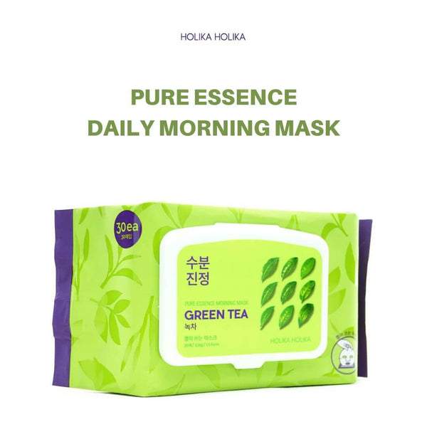 Holika Holika Pure Essence Morning Mask (Green Tea) 30 Sheets/330g