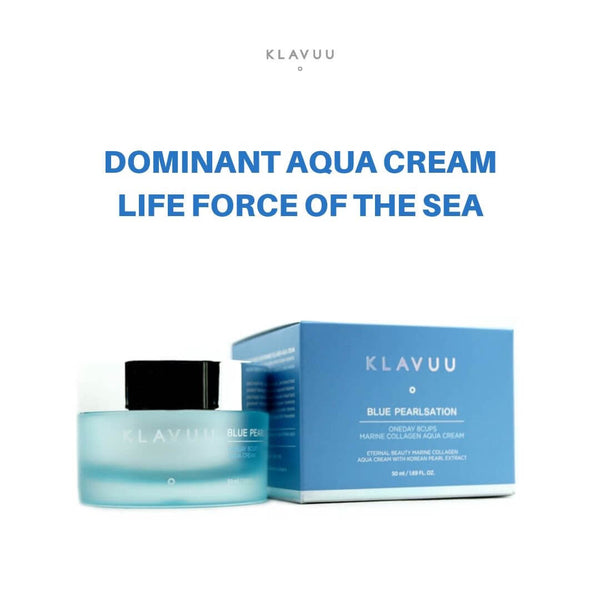 KLAVUU Blue Pearlsation Oneday 8cups Marine Collagen Aqua Cream 50ml