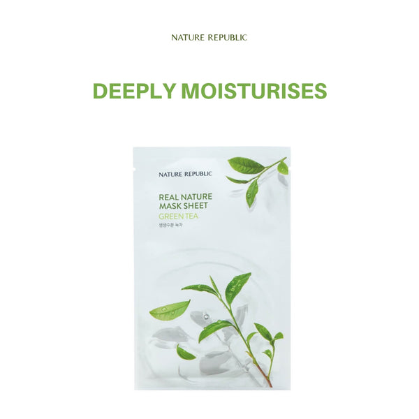 Nature Republic Real Nature Mask Sheet Green Tea 23ml