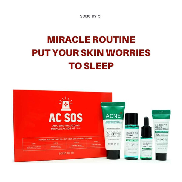 SOME BY MI AHA, BHA, PHA 30 Days Miracle AC SOS Kit