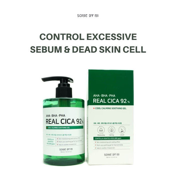 SOME BY MI AHA, BHA, PHA Real Cica 92% Cool Calming Soothing Gel 300ml
