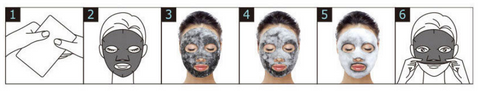 PUREDERM - Deep Purifying Black O2 Bubble Mask (Charcoal) 20g how to
