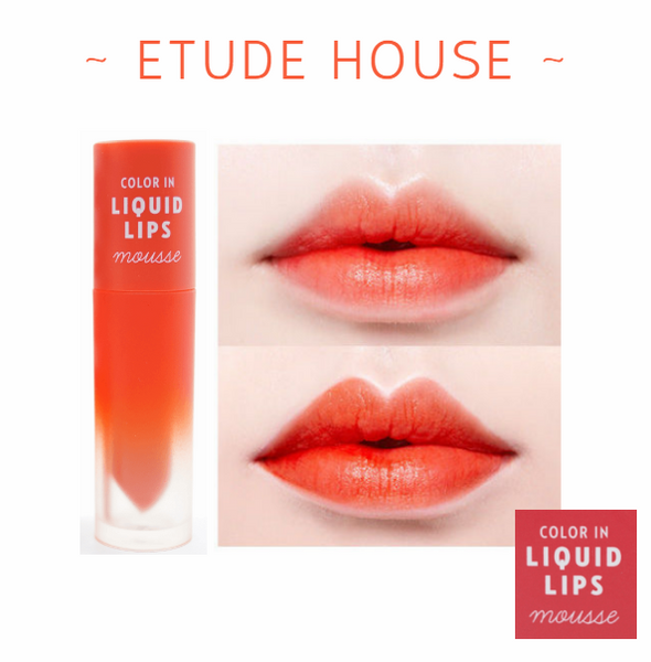Etude House - Colour In Liquid Lips Mousse (#OR201 Ruby Red Grapefruit)
